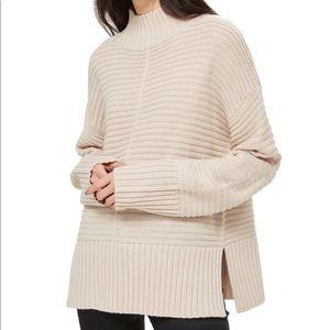 Topshop Mock Neck Oversized Sweater
